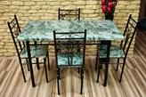 Zestaw Agata - Stół + 4 krzesła - Szybka wysyłka