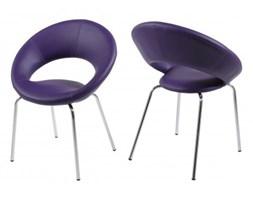 Actona Plump Krzesło Fioletowe Skóra Ekologiczna - 0000048830
