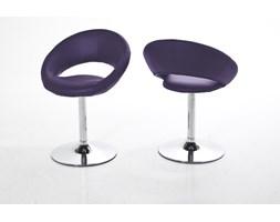 Actona Plump Fioletowe Krzesło Obrotowe Skóra Ekologiczna Chromowana Noga - 0000048709