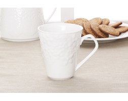 Kubek ceramiczny DUO BIAŁE KWIATY 340 ml