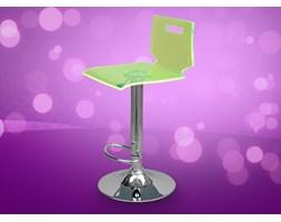 Wysokie krzeslo barowe z pleksiglasu hoker NEON zielony
