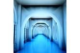 Fototapeta F134 - Niebieski korytarz