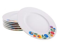 Talerzyk deserowy na ludowo - kolorowy wzór folk