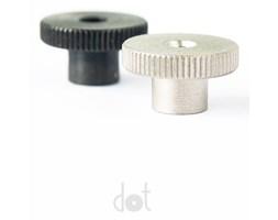 Gałka stalowa mini czarna