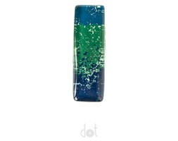 Gałka prostokątna - melanż niebiesko-zielony