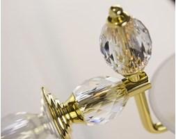 Złote akcesoria łazienkowe MARE - Kryształ Swarovski w Mydelniczce naściennej