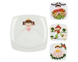 Ceramiczny talerzyk deserowy CERAMIKA TUŁOWICE KSIĘŻNICZKA 19 x 19 cm