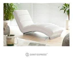 Slinky Szezlong Biały Skóra Ekologiczna 0000043636