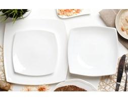 Serwis obiadowy LUMINARC QUADRATO BLANC na 6 osób (18 el.) -- biały