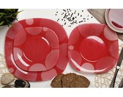 Serwis obiadowy LUMINARC CARINA RED na 6 osób (18 el.) -- czerwony