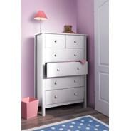 My Room :: Komoda 6 szuflad wys.140 biała