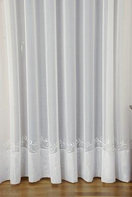 Firanka Kornelia haftowana 43943 / wysokość 270cm / kolor biały