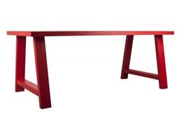 Drewniany stół Zuiver A-Framed czerwony